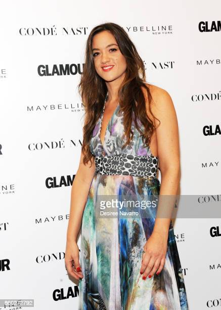 Musical artist Tennille Amor attends 2017 Glamour International Day Of The Girl Rally at Merkin Concert Hall on October 11, 2017 in New York City.