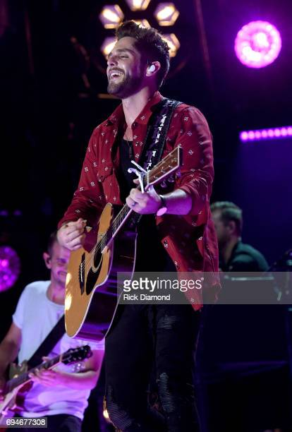 Musical artist Thomas Rhett performs onstage during day 3 of the 2017 CMA Music Festival on June 10 2017 in Nashville Tennessee
