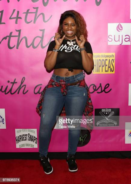 Musical artist Tyeler Reign attends Jillian Estell's red carpet birthday party with a purpose benefitting The Celiac Disease Foundation on June 15...