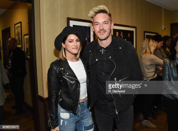 Musical artists Cassadee Pope and Sam Palladio attend the CMT Crossroads Smokey Robinson and Cam in Studio A at the Grand Ole Opry on March 6 2018 in...