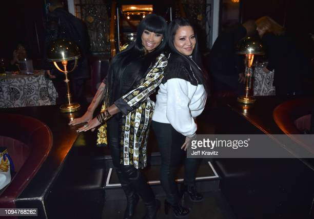 Musical artists Cheryl Salt James and Sandra Pepa Denton attend the Los Angeles Premiere of United Skates from HBO on February 6 2019 in Los Angeles...
