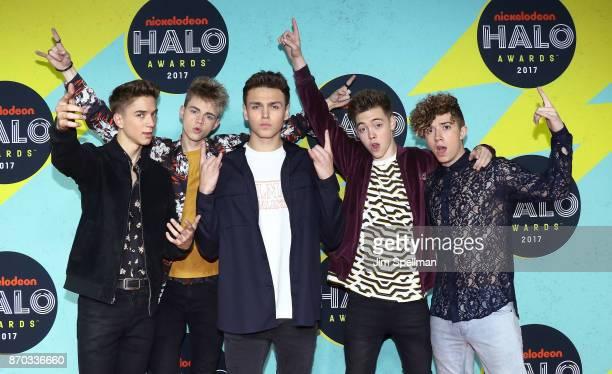 Musical artists Daniel Seavey Corbyn Besson Jonah Marais Zachary Herron and Jack Avery attend the Nickelodeon Halo Awards 2017 at Pier 36 on November...