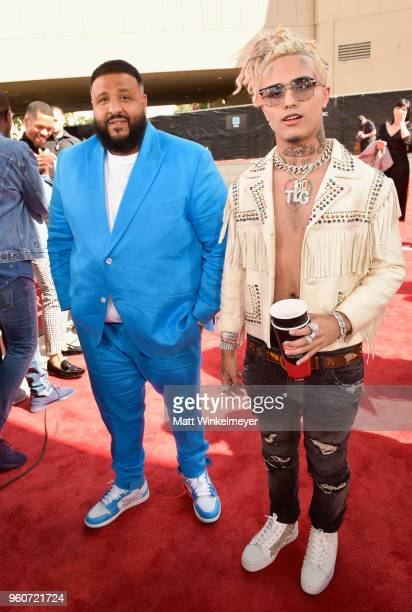 Musical artists DJ Khaled left and Lil Pump attend the 2018 Billboard Music Awards at MGM Grand Garden Arena on May 20 2018 in Las Vegas Nevada