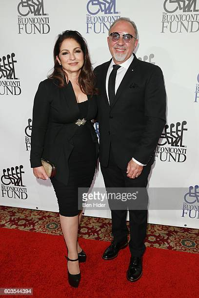 Musical artists Gloria Estefan and Emilio Estefan attend the 31th Annual Great Sports Legends Dinner to benefit The Buoniconti Fund to Cure Paralysis...