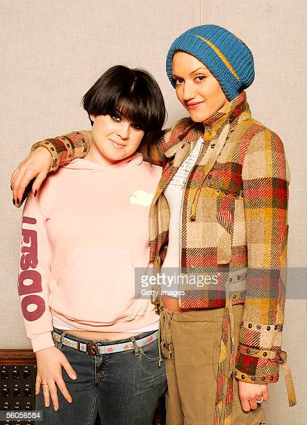 Musical artists Gwen Stefani and Kelly Osbourne pose for a portrait to promote the disaster relief charity single a cover of the Sir Eric Clapton...