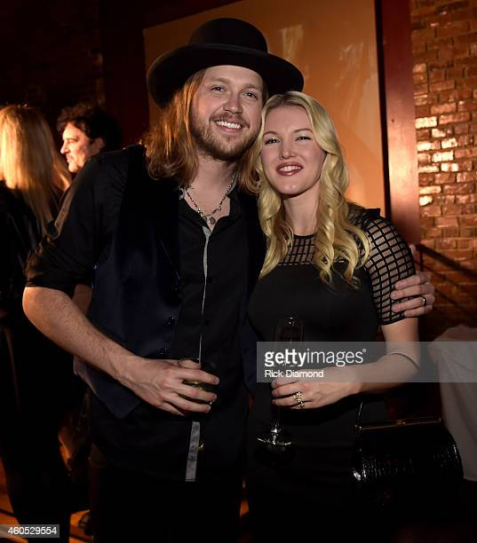 Musical artists Michael Hobby and Ashley Campbell attend the Inaugural Nash Icon ACC Awards postshow party honoring Reba as the first recipient of...
