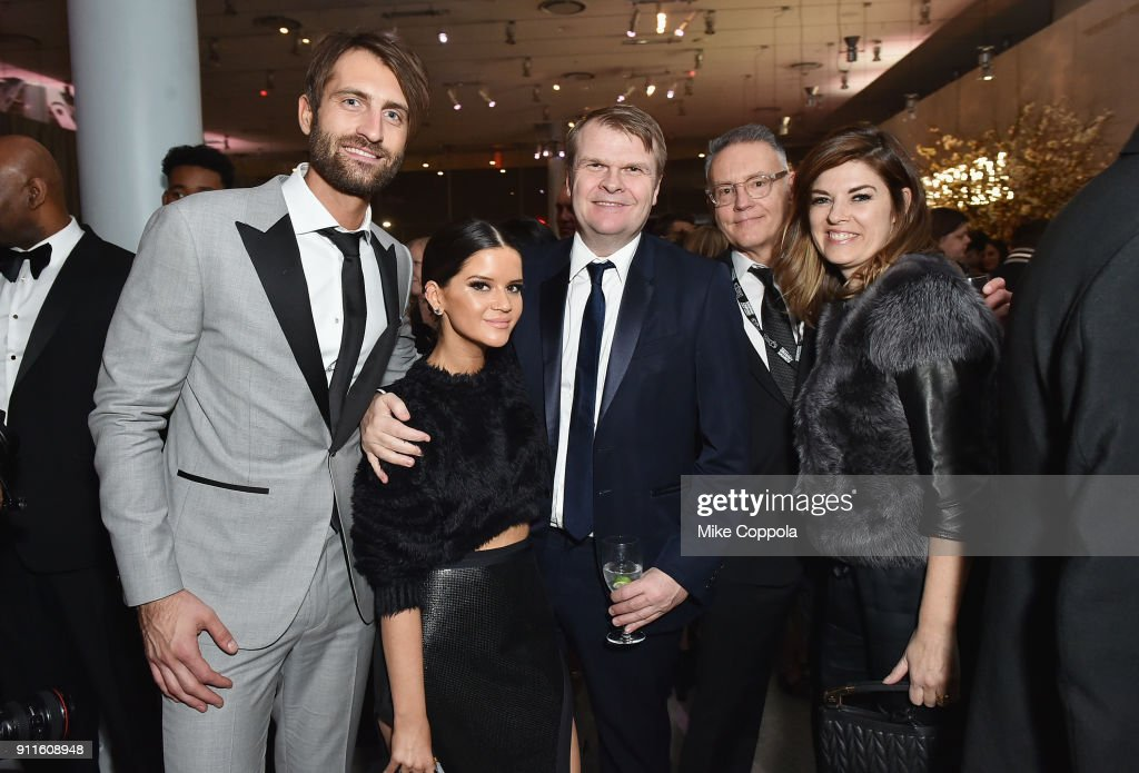 Musical artists Ryan Hurd and Maren Morris, CEO of Sony