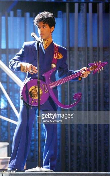 Musical Artsin Prince performs at the 46th Annual Grammy Awards held at the Staples Center on February 8 2004 in Los Angeles California