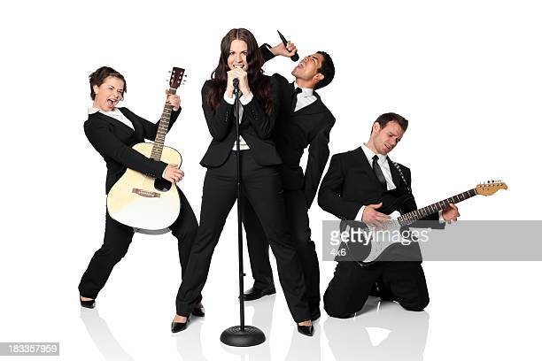 musical band - performance group stock pictures, royalty-free photos & images