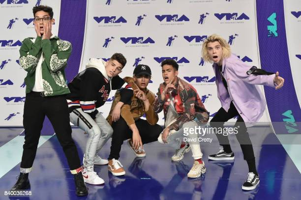 Musical band Prettymuch attend the 2017 MTV Video Music Awards at The Forum on August 27 2017 in Inglewood California
