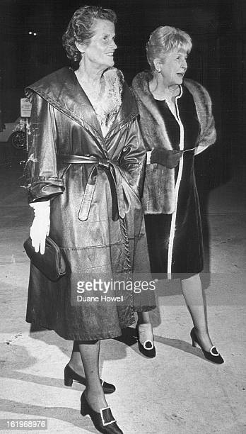 OCT 9 1969 OCT 10 1969 Musical Comedy Launches Theater's 41st Season Mrs Edwin Francis left and Mrs Holbrook Mahn arrive at Bonfils Theatre for...