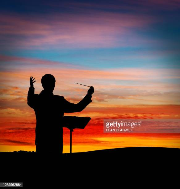 musical conductor open theatre - 指揮者 ストックフォトと画像