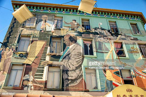 Musical culture represented in mural on building in the heart of San Francisco California
