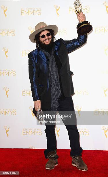 Musical director Don Was poses in the press room during the 2014 Creative Arts Emmy Awards at Nokia Theatre LA Live on August 16 2014 in Los Angeles...