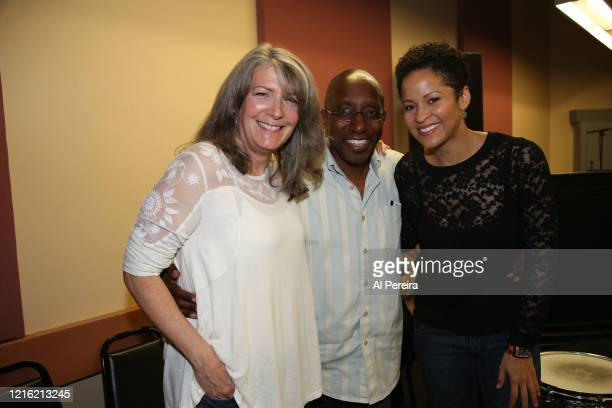 Musical Director Greg Phillinganes Kori Withers and Kathy Mattea rehearse for the Lean On Him A Tribute To Bill Withers show on September 30 2015 in...