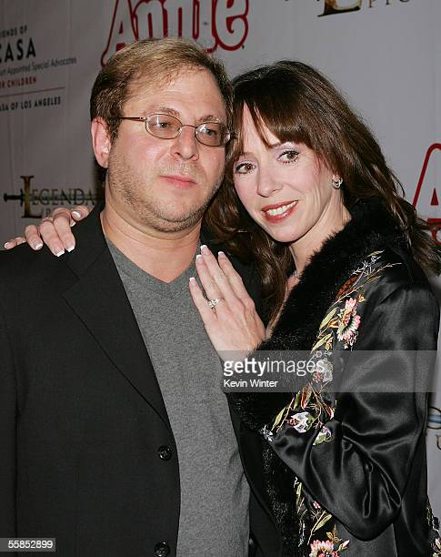 Musical Director Keith Levenson and his fiance actress MacKenzie Phillips arrive at the opening of Annie at the Pantages Theartre on October 4 2005...