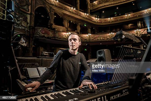 Musical Director Mark Dickman poses for a portrait in the orchestra pit at the Hackney Empire on December 17 2014 in London England Hackney Empire is...