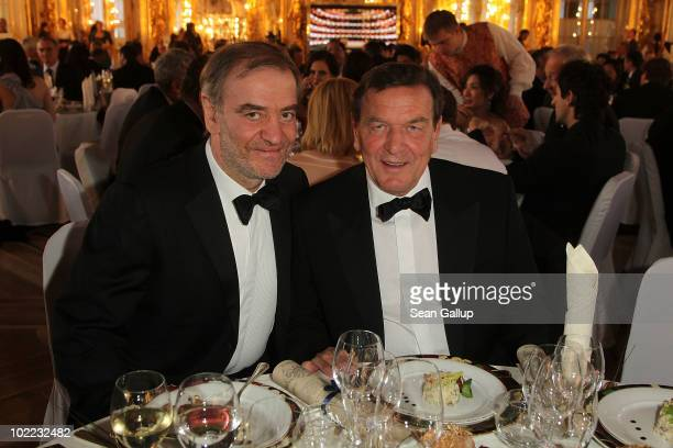 Musical Director of Mariinsky Theater and Conductor Valery Gergiev and former German Chancellor Gerhard Schroeder attend the Mariinsky Ball of...