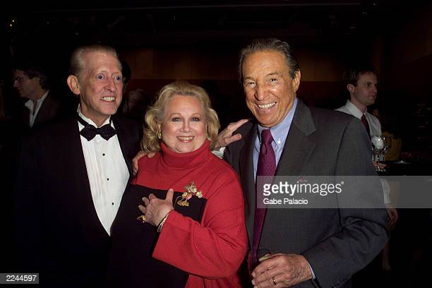 Musical director Wally Harper Barbara Cook and Mike Wallace 60 Minutes at the opening night party following her performance in Mostly Sondheim at...