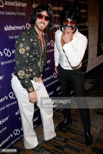Musical duo Curtis Rempel and Brad Rempel of High Valley attend the Nashville Disco Party Benefiting Alzheimer's Association on June 4 2017 in...
