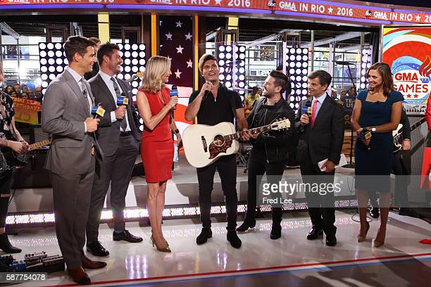 AMERICA Musical duo Dan Shay perform on GOOD MORNING AMERICA 8/8/16 airing on the ABC Television Network ROB