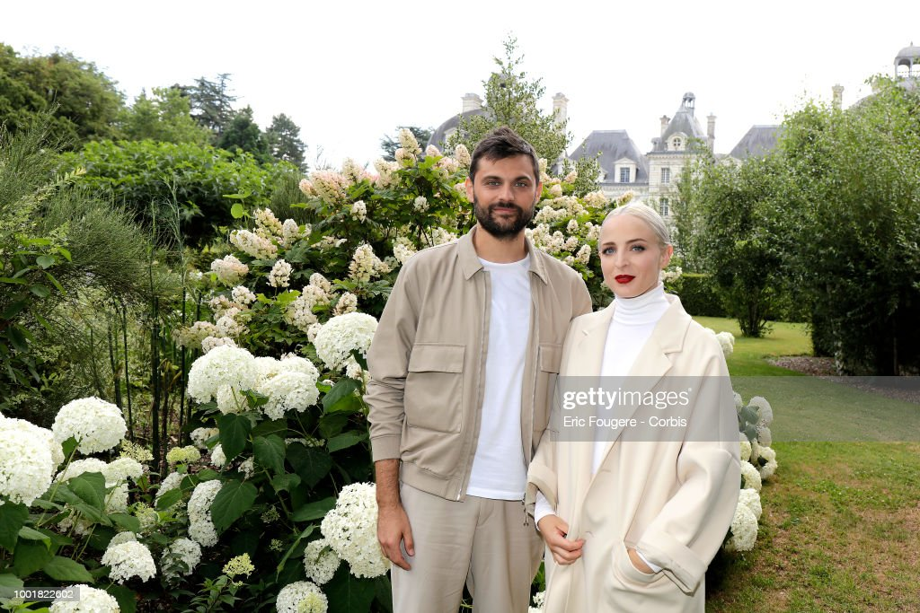 Musical duo, french band with singers Emilie Satt and Jean-Karl Lucas, Madame Monsieur poses during a portrait session in Cheverny, France on .