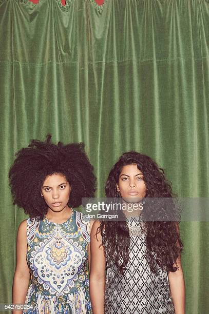Musical duo Ibeyi are photographed for the Guardian on January 23, 2015 in London, England.