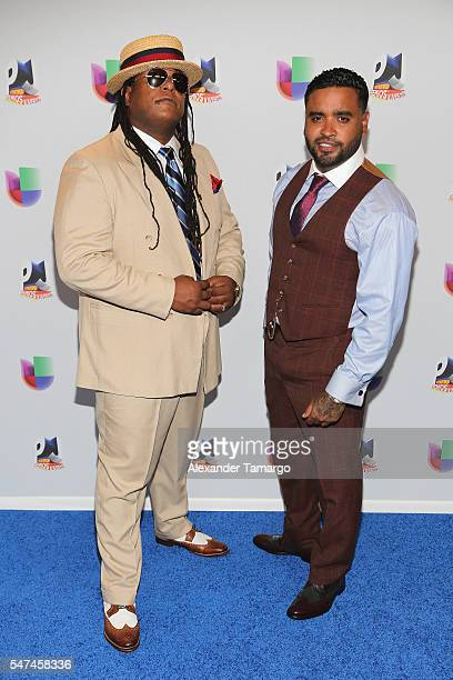 Musical duo Zion y Lennox attends the Univision's 13th Edition Of Premios Juventud Youth Awards at Bank United Center on July 14 2016 in Miami Florida