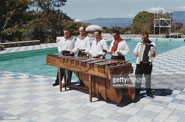 A musical ensemble in Grenada circa 1965