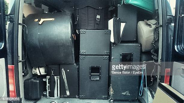 Musical Equipment In Car Trunk