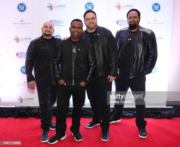 Musical group All4One arrive at Las Vegas's 8th annual NF Hope Concert A Benefit for Neurofibromatosis at the Palazzo Theatre at The Palazzo Las...