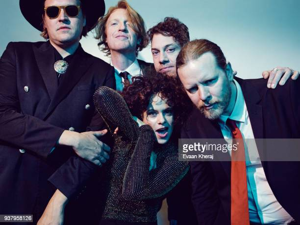Musical group Arcade Fire poses for a portrait at the YouTube x Getty Images Portrait Studio at 2018 Juno's Gala Awards Dinner on MARCH 25th 2018 in...