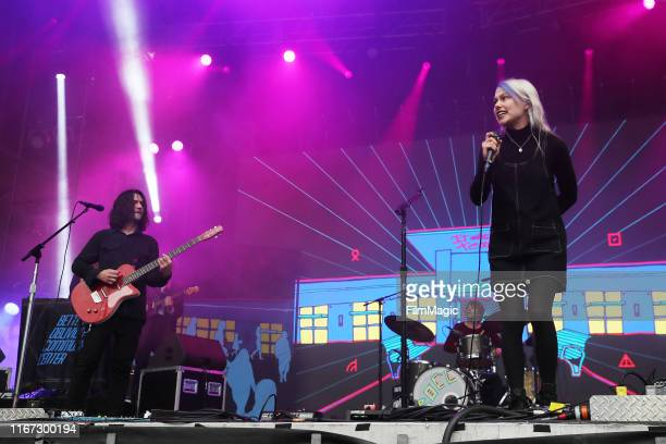 Musical group Better Oblivion Community Center performs onstage during the 2019 Outside Lands Music And Arts Festival at Golden Gate Park on August...
