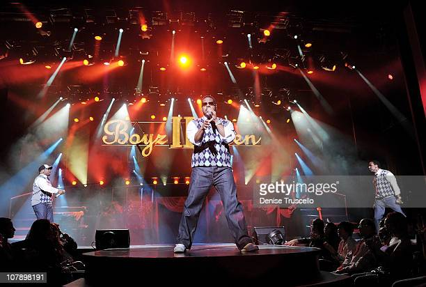 Musical group Boys II Men perform at Flamingo Hotel and Casino on January 5 2011 in Las Vegas Nevada