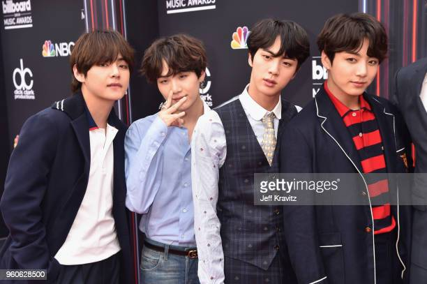 Musical group BTS attend the 2018 Billboard Music Awards at MGM Grand Garden Arena on May 20 2018 in Las Vegas Nevada