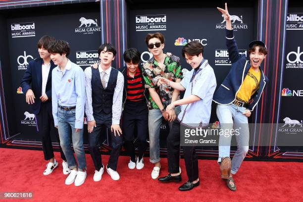 Musical group BTS attends the 2018 Billboard Music Awards at MGM Grand Garden Arena on May 20 2018 in Las Vegas Nevada