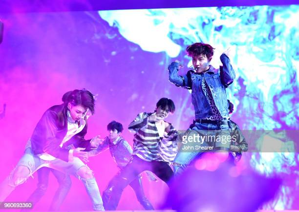 Musical group BTS performs onstage at the 2018 Billboard Music Awards at MGM Grand Garden Arena on May 20 2018 in Las Vegas Nevada