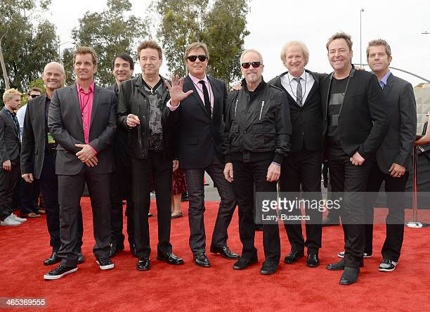 Musical group Chicago attends the 56th GRAMMY Awards at Staples Center on January 26 2014 in Los Angeles California