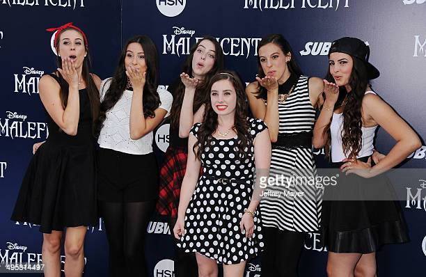 Musical Group Cimorelli arrives at the World Premiere Of Disney's 'Maleficent' at the El Capitan Theatre on May 28 2014 in Hollywood California