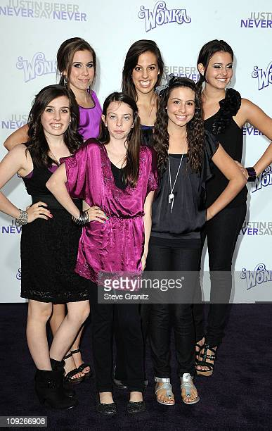 Musical group Cimorelli attends the 'Justin Bieber Never Say Never' Los Angeles Premiere at Nokia Theatre LA Live on February 8 2011 in Los Angeles...