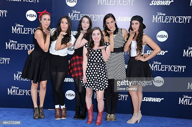 Musical Group Cimorelli attends the World Premiere Of Disney's 'Maleficent' at the El Capitan Theatre on May 28 2014 in Hollywood California