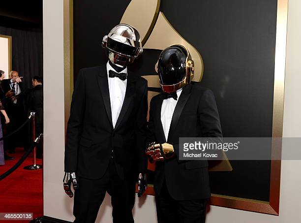 Musical group Daft Punk attends the 56th GRAMMY Awards at Staples Center on January 26 2014 in Los Angeles California