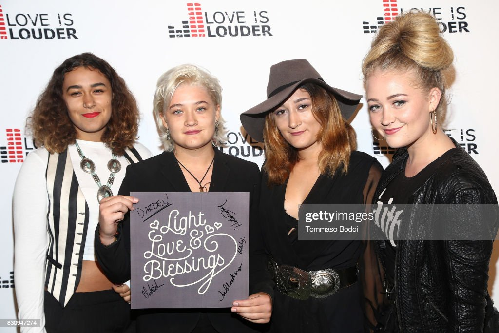 Musical group Darden attends the Chaz Dean Summer Party 2017 Benefiting Love Is Louder on August 12, 2017 in Los Angeles, California.