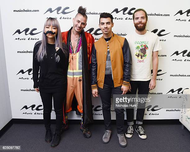 Musical Group DNCE Visits Music Choice on November 22 2016 in New York City