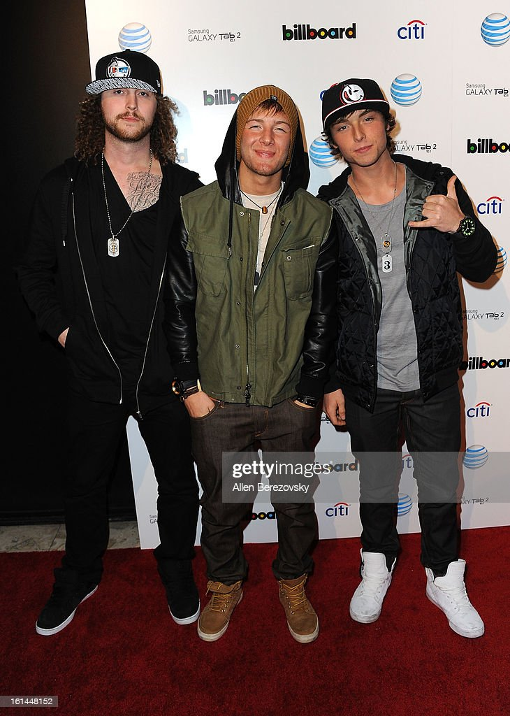 Musical group Emblem 3 attends the Billboard GRAMMY after party presented by Citi at The London Hotel on February 10, 2013 in West Hollywood, California.