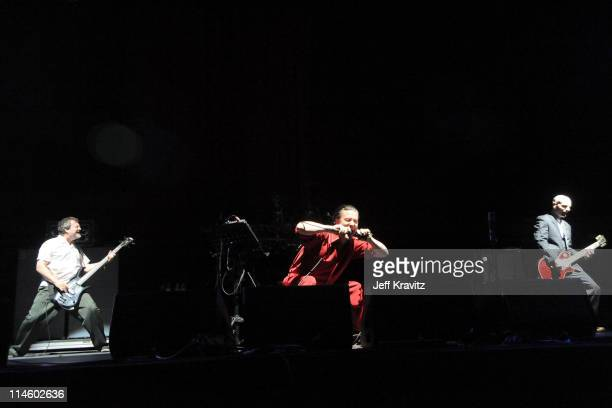 Musical group Faith No More performs during Day 2 of the Coachella Valley Music & Art Festival 2010 held at the Empire Polo Club on April 17, 2010 in...