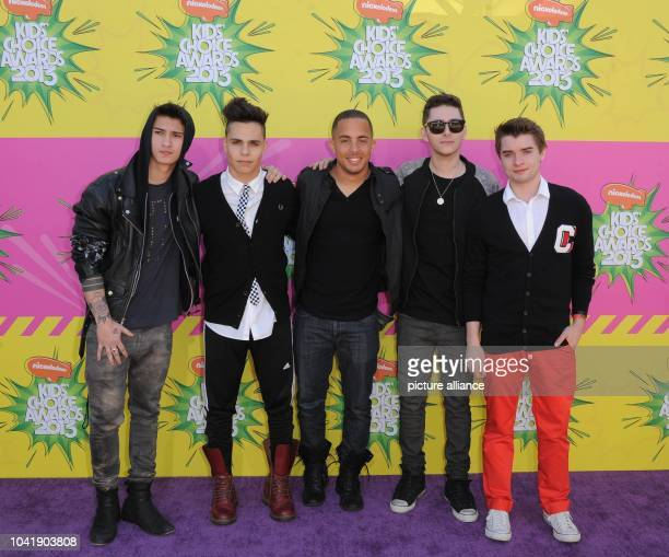 Musical group from 'Midnight Red' arrive at Nickelodeon's 26th Annual Kids' Choice Awards at USC Galen Center in Los Angeles USA on 23 March 2013...