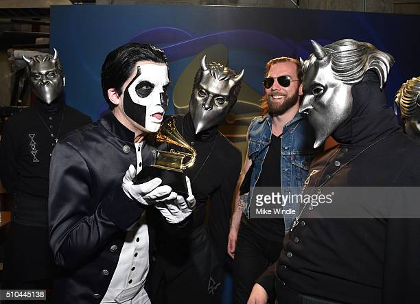 Musical group Ghost winners of Best Metal Performance for 'Cirice' attend the GRAMMY PreTelecast at The 58th GRAMMY Awards at Microsoft Theater on...