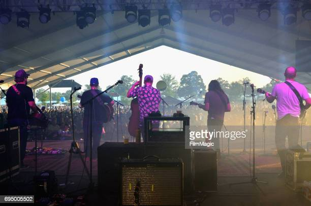 Musical group Greensky Bluegrass perform onstage at That Tent during Day 4 of the 2017 Bonnaroo Arts And Music Festival on June 11, 2017 in...