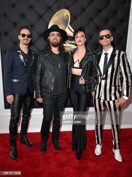 Musical Group Halestorm attends the 61st Annual GRAMMY Awards at Staples Center on February 10 2019 in Los Angeles California